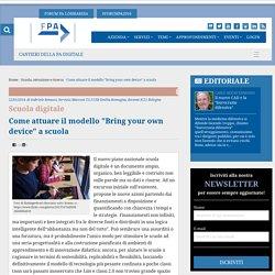 """Forum PA - Come attuare il modello """"Bring your own device"""" a scuola"""