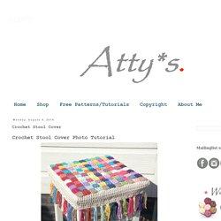 Atty's : Crochet Stool Cover