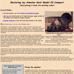 Atwater Kent Model 20C - Restoring/Listening with - BCB and NDB