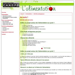 Au cycle 1 - CRDP de Bourgogne