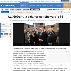 Au MoDem, la balance penche vers le PS