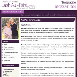 Au Pair Agency - Larah Au-Pairs, UK