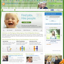 Au Pair Jobs | Be an Au Pair | Hire an Au Pair > GreatAuPair.com