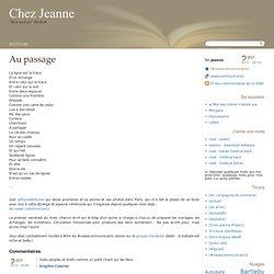 Au passage - Chez Jeanne