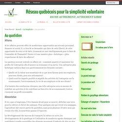 Réseau québécois pour la simplicité volontaire