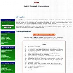 Aube - Arthur Rimbaud