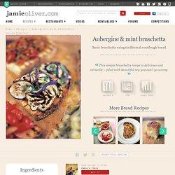 aubergine & mint bruschetta