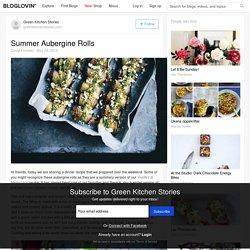 Summer Aubergine Rolls