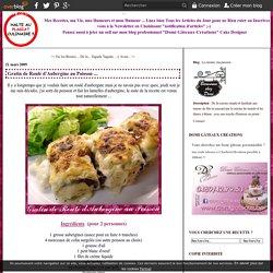 Gratin de Roulé d'Aubergine au Poisson ... - La cuisine, ma passion