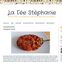 La Fée Stéphanie: Aubergines farcies