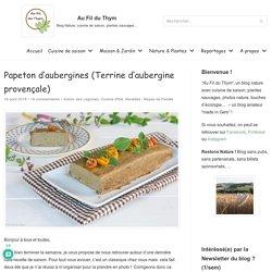 Papeton d'aubergines (Terrine d'aubergine provençale)