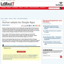 Auchan adopte les Google Apps