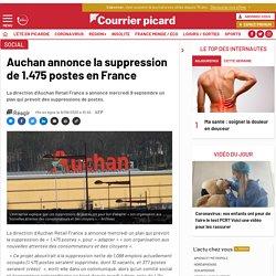 Auchan annonce la suppression de 1.475 postes en France