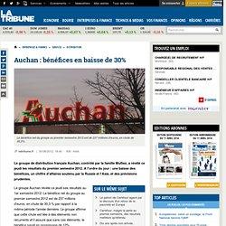 Auchan : bénéfices en baisse de 30%