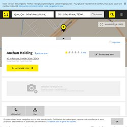 Auchan Holding Croix (adresse, avis)