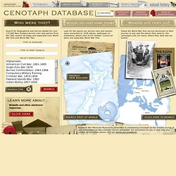 Cenotaph database - Auckland Museum New Zealand
