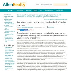 Auckland rents on the rise: Landlords don't miss the boat