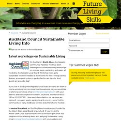 Auckland Council on Sustainable Living Programme