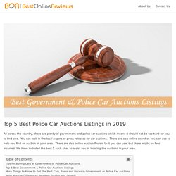 Top 5 Best Police Car Auctions Listings in 2019