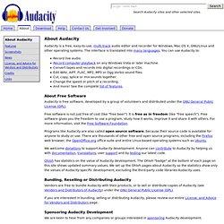 A propos d'Audacity