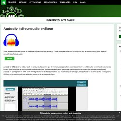 Audacity éditeur audio en ligne - OffiDocs