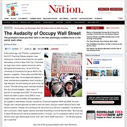 The Audacity of Occupy Wall Street