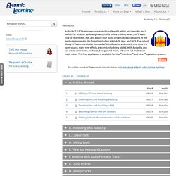 Atomic Learning: Audacity 2.0.3 Training