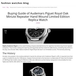 Buying Guide of Audemars Piguet Royal Oak Minute Repeater Hand Wound Limited Edition Replica Watch - fashion watches blog