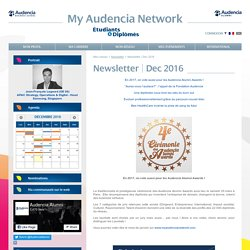 My Audencia Alumni Network - Newsletter