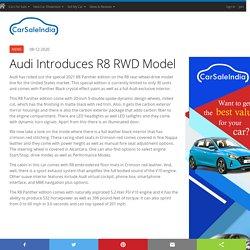 Audi Introduces R8 RWD Model