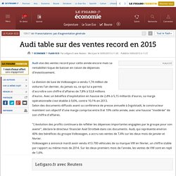 Audi table sur des ventes record en 2015