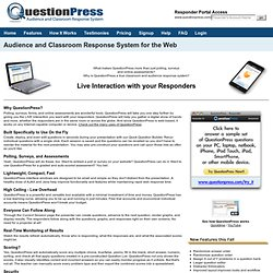 Web-Based Classroom and Audience Response System