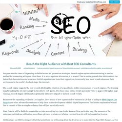 Reach the Right Audience with Best SEO Consultants – SEO Expert Los Angeles