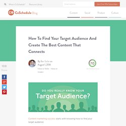 How To Find Your Target Audience & Create Content That Connects