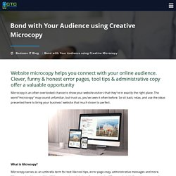 Bond with Your Audience using Creative Microcopy