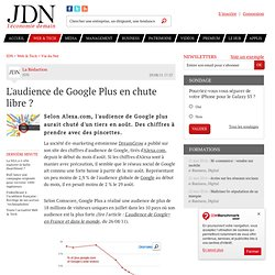 L'audience de Google Plus en chute libre ?