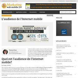 L'audience de l'Internet mobile dans le monde, en France, quelle répartition?