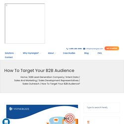 How to Target your B2B AudienceB2B Lead Generation Blog: Vsynergize USA