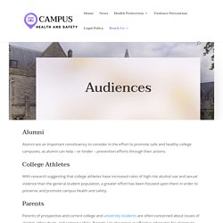 Audiences - Campus Health and Safety