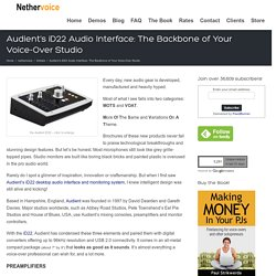 Audient's ID22 Audio Interface: The Backbone Of Your Voice-Over Studio