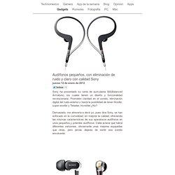 Audífonos pequeños, con eliminación de ruido y claro con calidad Sony