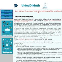 AuDiMath, Concours de vidéo