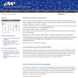 CAAP (Concertation des Associations Actives en Prison) - Audio