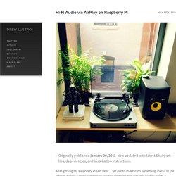 Hi-Fi Audio via AirPlay on Raspberry Pi