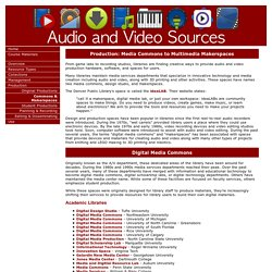 Audio and Video Sources
