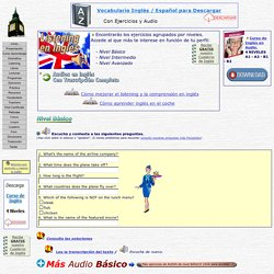 Listenings con respuesta y diálogos en Ingles