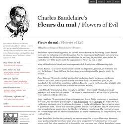 Audio of Baudelaire's Fleurs du Mal