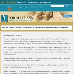 Audio Bible in Hebrew