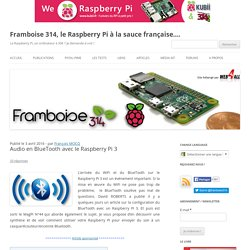 Audio en BlueTooth avec le Raspberry Pi 3
