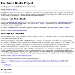 The Audio Books Project - Gutenberg